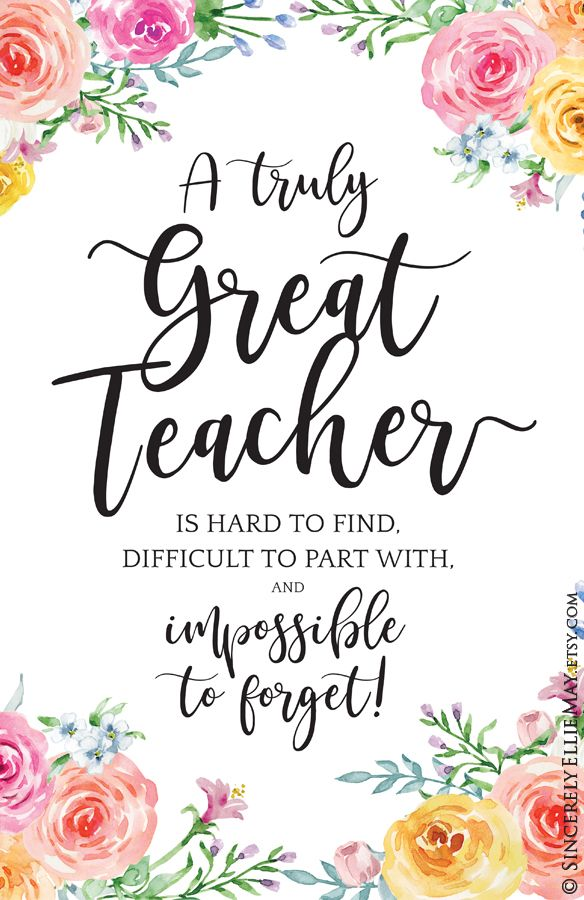 Great Teacher Wall Art Gifts - A Truly Great Teacher Is Hard To Find, a Retirement Goodbye Gift for Well Loved Woman Teacher YOU PRINT 40093
