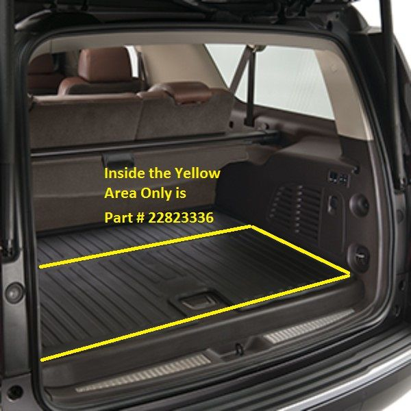 Yukon Denalixl Floor Mats Cargo Area Premium All Weather Ebony