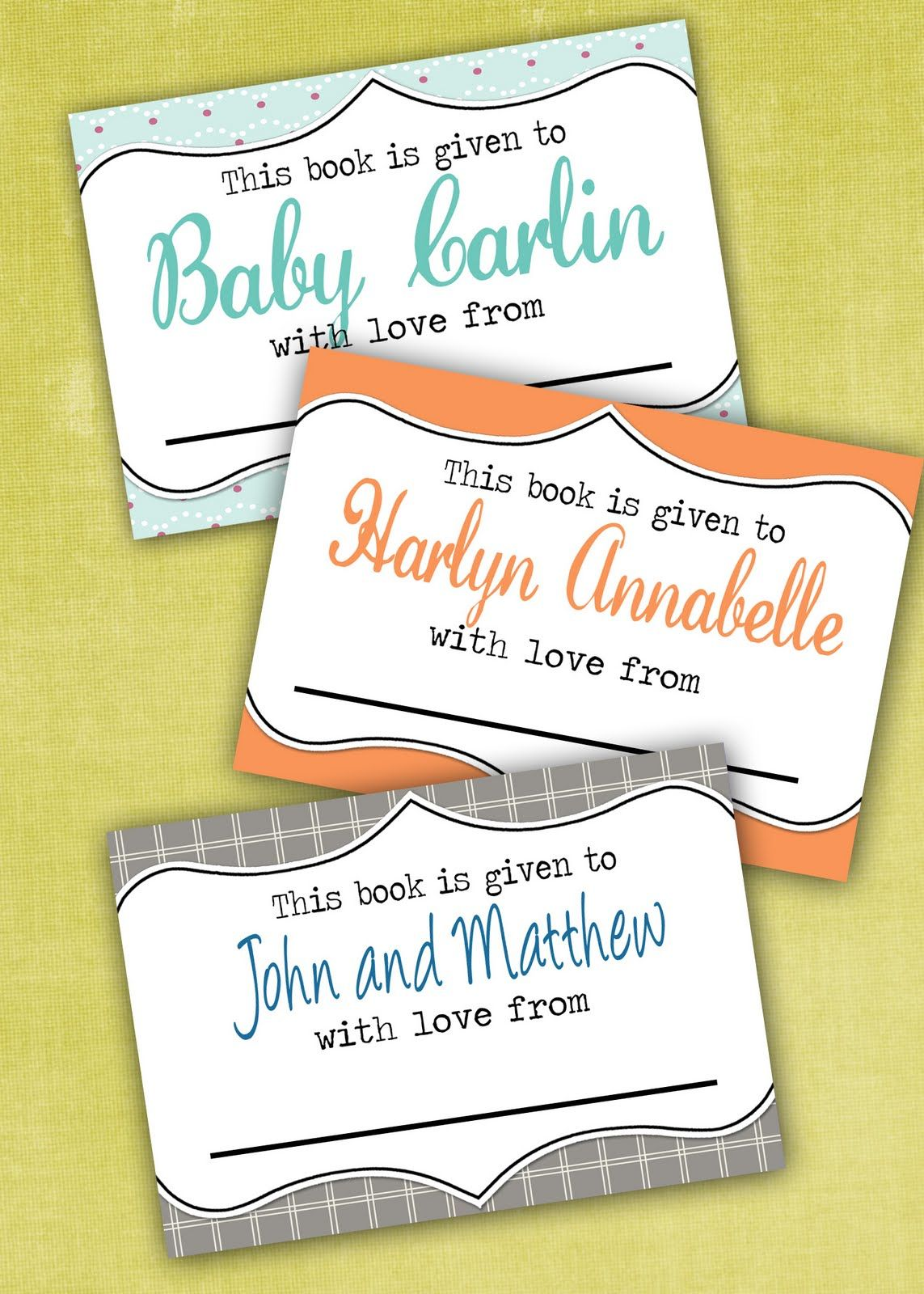 Lil Mop Top Printable Bookplates Freebies Baby Shower Ideas