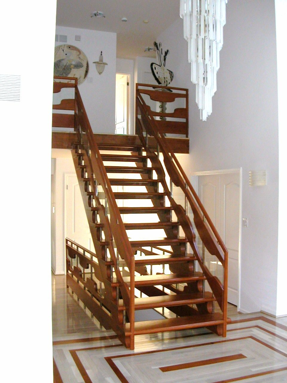 Decorating, Beautiful Full Wooden Staircase Design Idea Inspiring ...