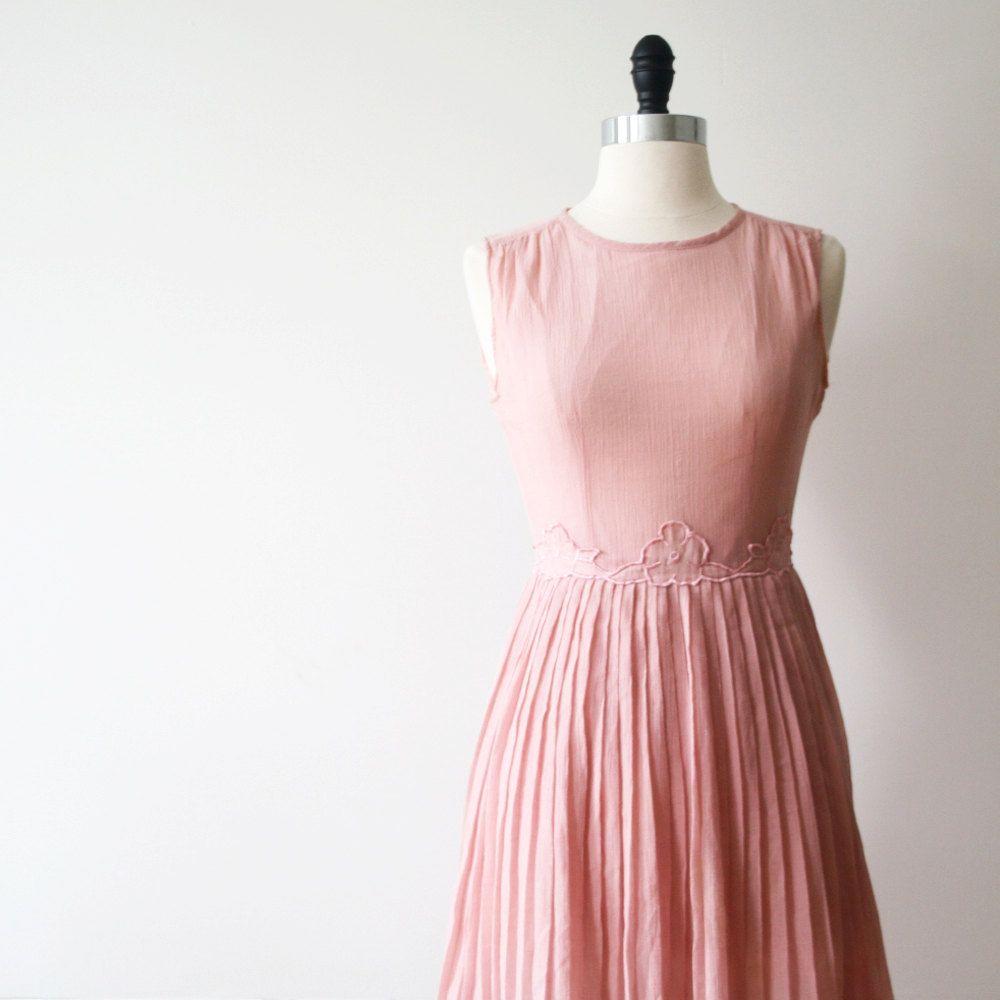 Vintage Dress Japanese Dress Blush Pink Dress Ballerina Dress Cotton ...