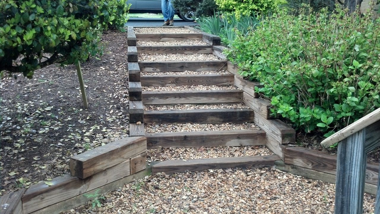 Best Exterior Wonderful Outside Steps Constructed By Wooden 400 x 300