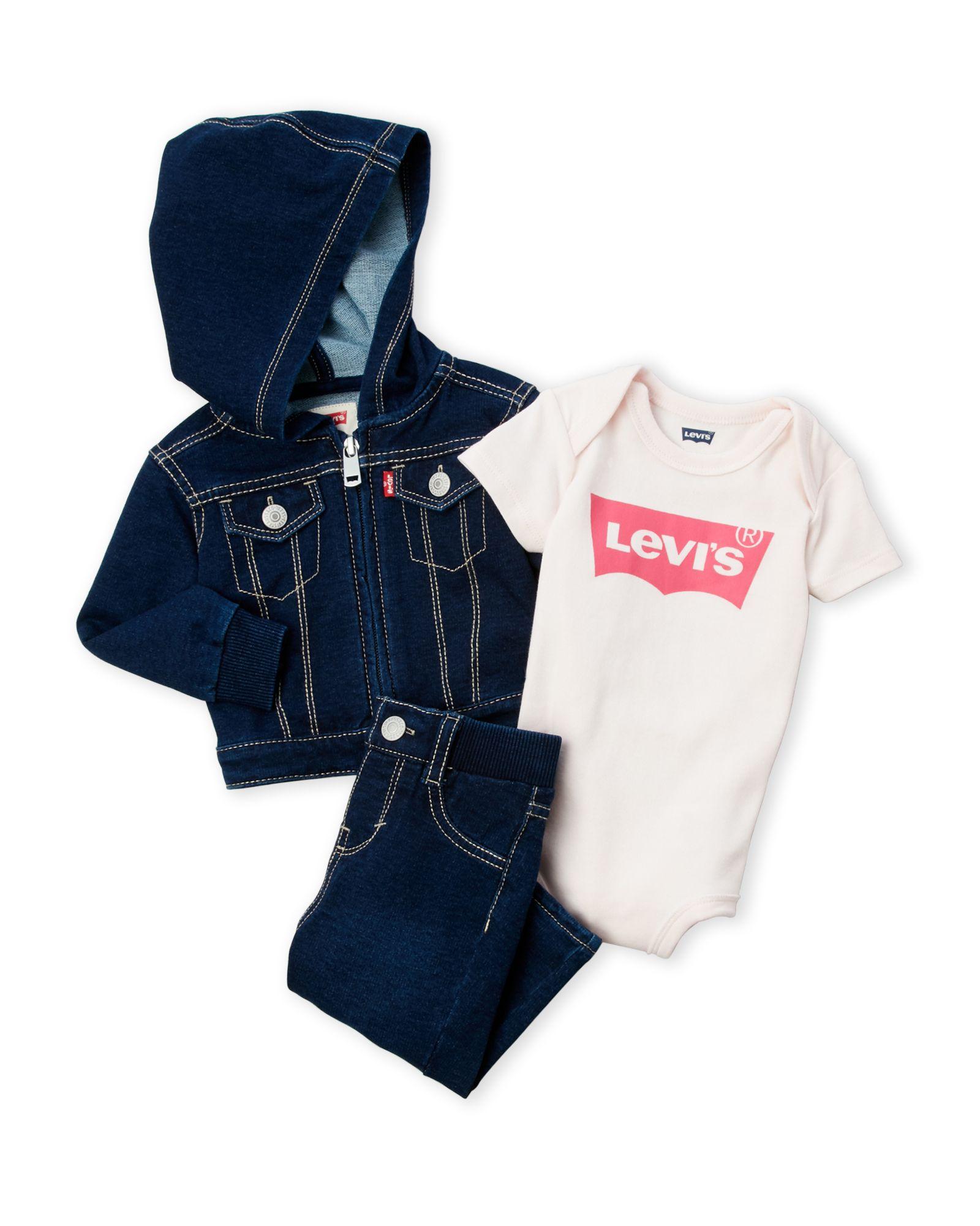 Levi S Newborn Infant Girls 3 Piece Denim Box Set Baby Clothes Denim Clothes [ 2000 x 1600 Pixel ]