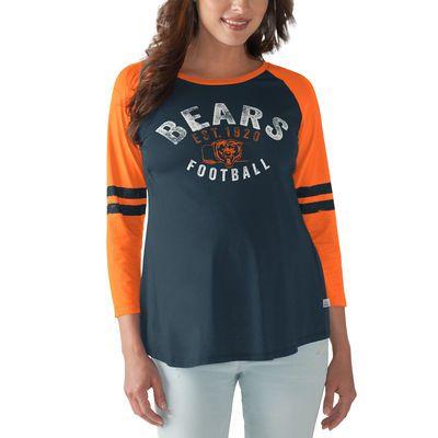 Chicago Bears Touch by Alyssa Milano Women s Maternity Huddle 3 4-Sleeve T- Shirt… febf0c730