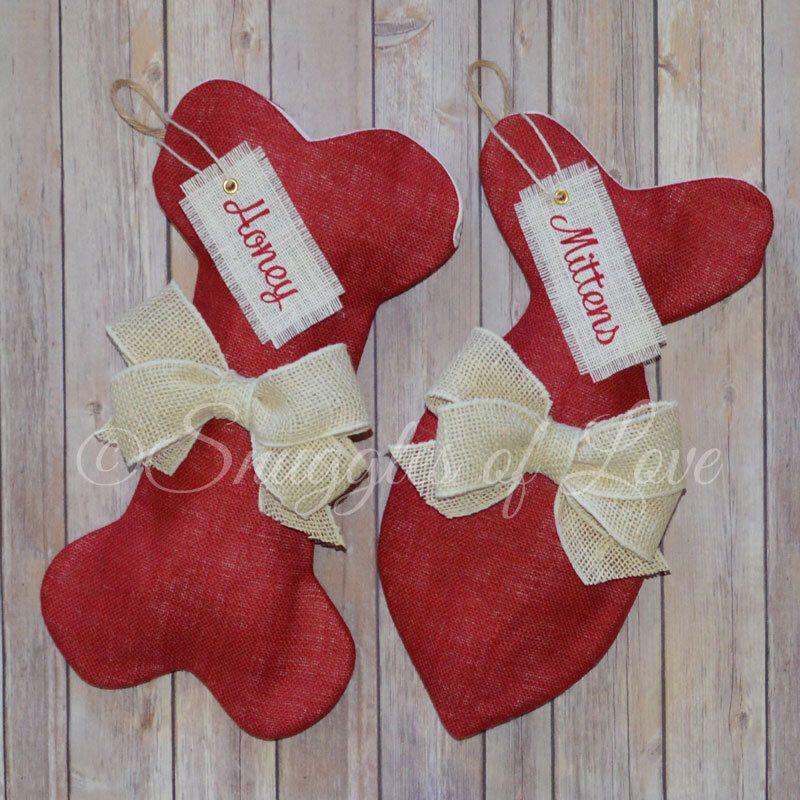 red burlap pet stockings red burlap dog stocking red burlap cat