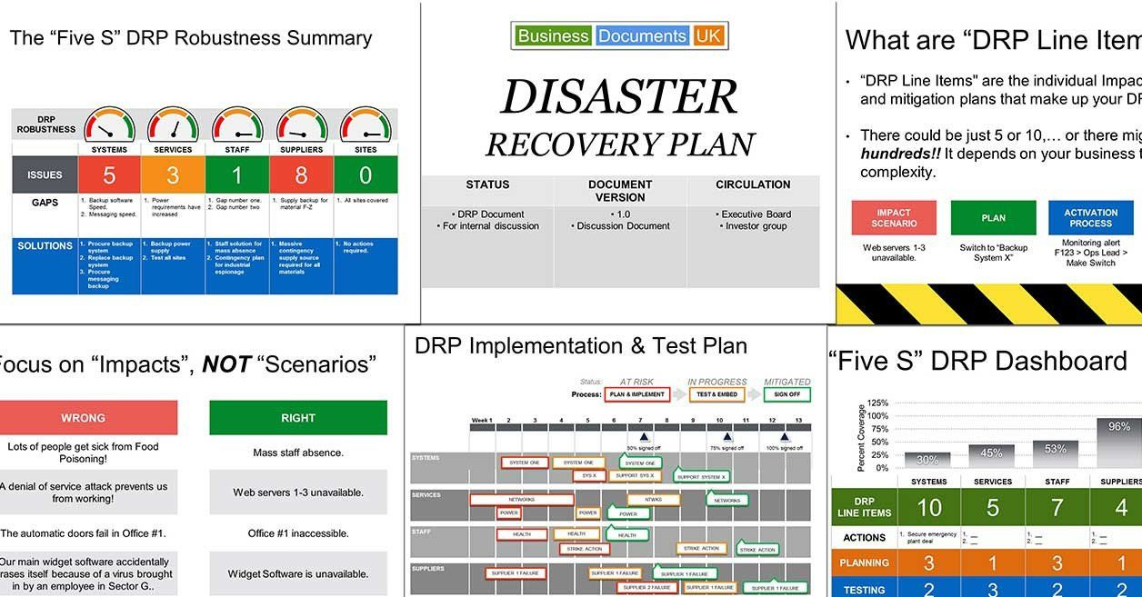 Disaster Recovery Plan Example Best Of Powerpoint Disaster