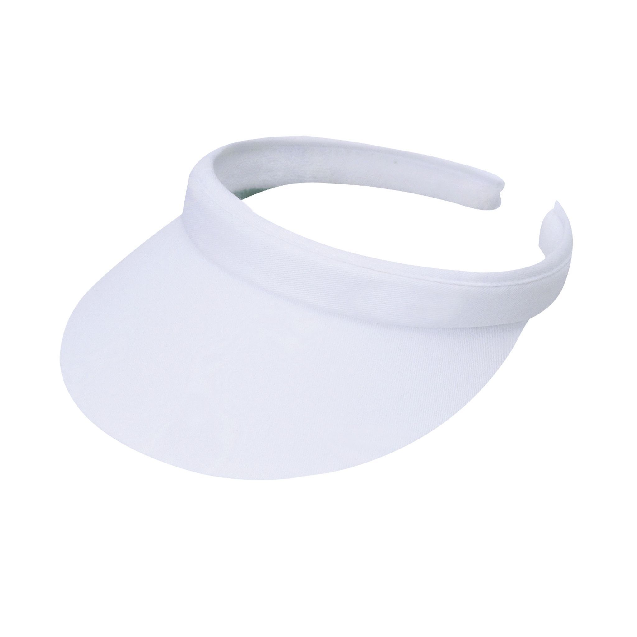 Clip on sun visor with terrycloth band inside. 3