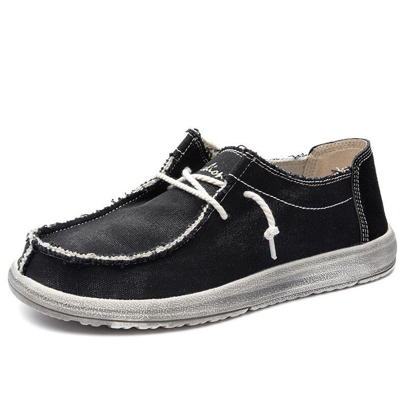 Tucsson Canvas Shoes Casual Loafers Anti Slip Comfortable