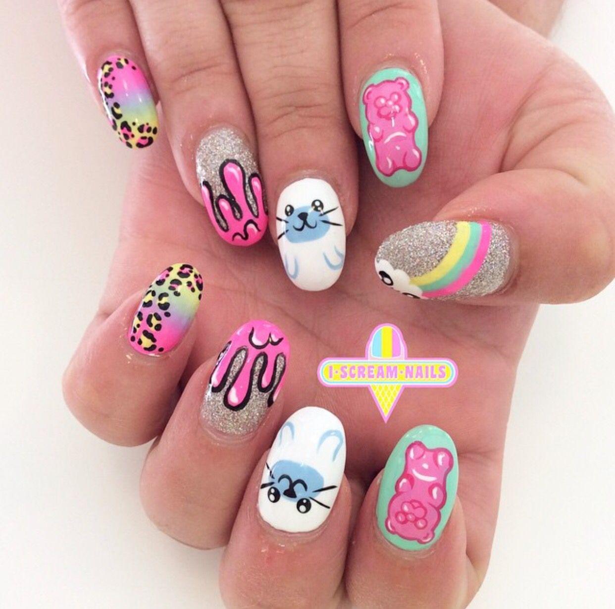 I scream nails | nail art | Pinterest | Nail nail and Makeup