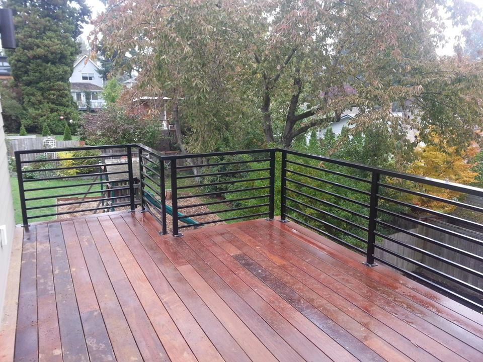 Image Result For Outdoor Railings With Horizontal Railings