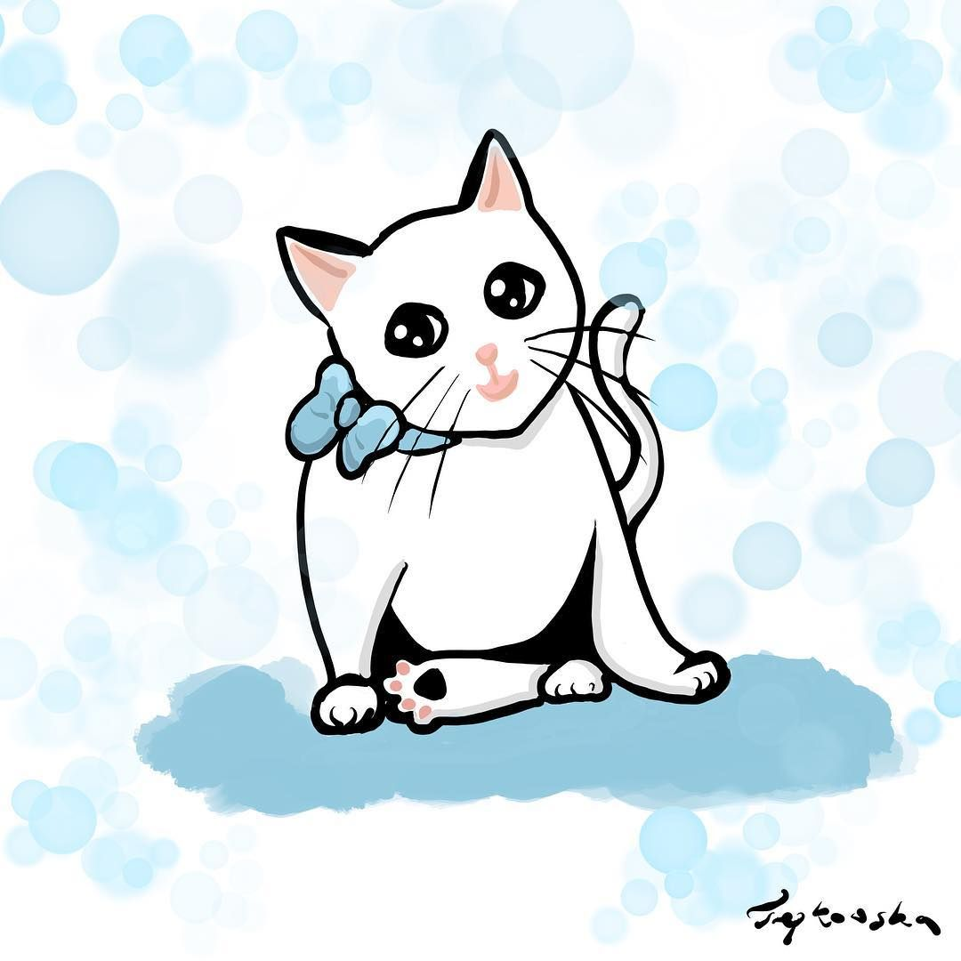 Hellokitty Kitty Cat Whitecat Sweetcat Illustration Catillustration Cat Illustration White Cat Kitty