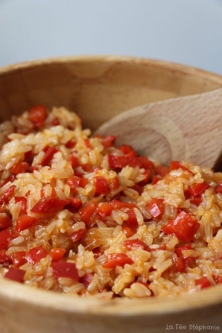 Riz basmati aux poivrons caramélisés, une recette végétalienne facile et dé...,  #aux #basmati #cara...