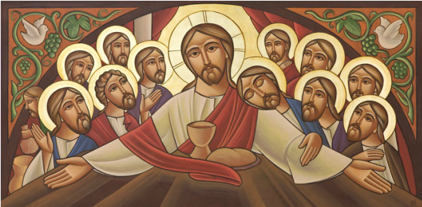 Coptic Icon of the Last Supper by Fadi Mikhail