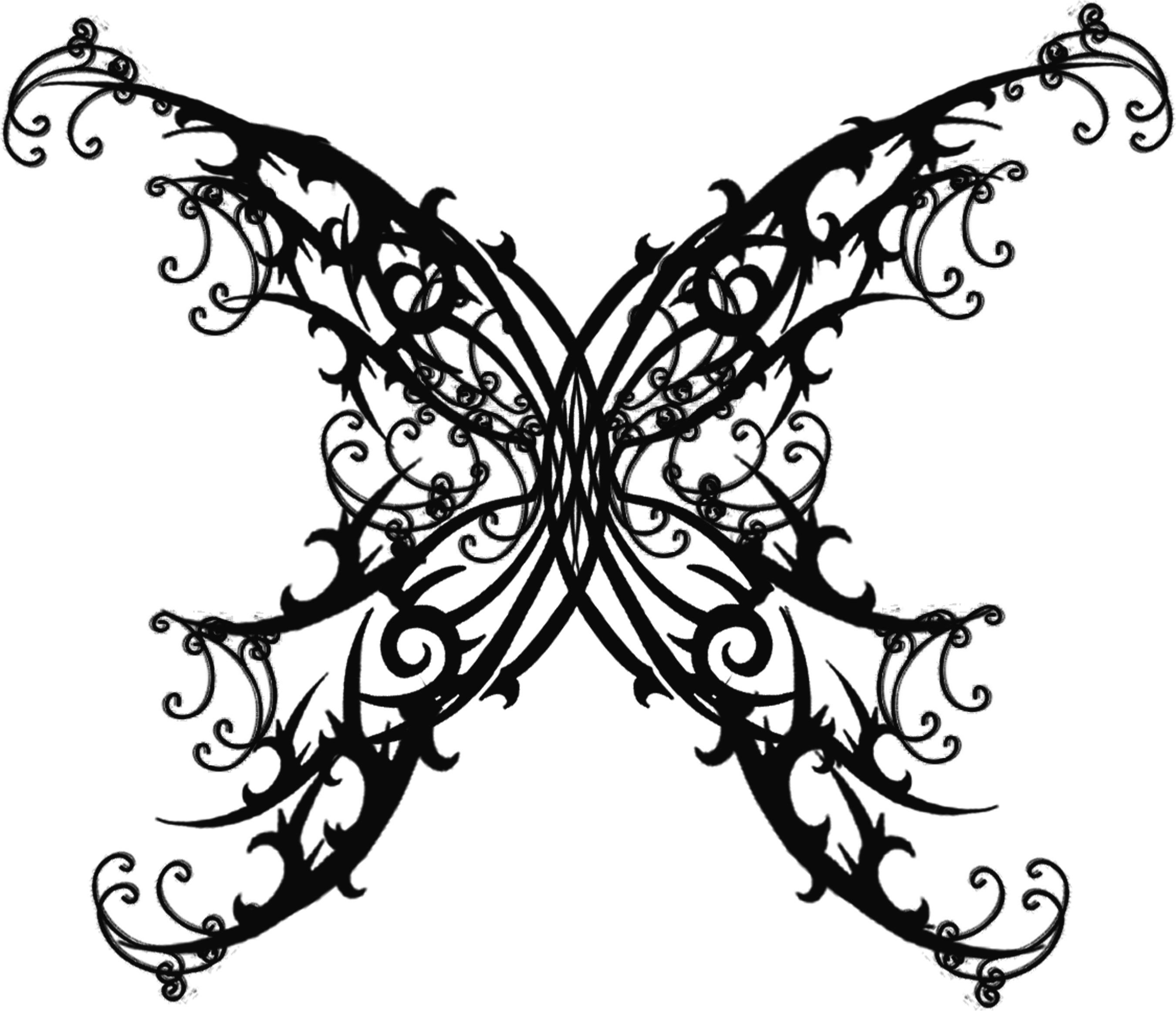 Gothic Designs butterfly tattoo | butterfly, gothic and tattoo