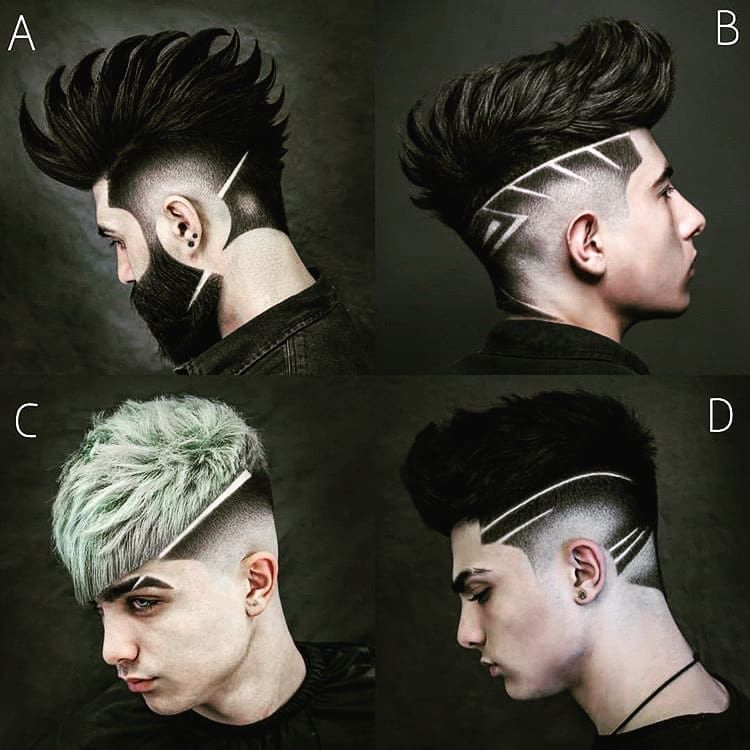 Which one A.B.C or D . hairmodel model hair hairstyle