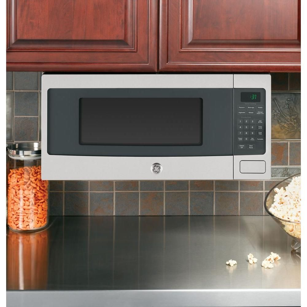 Countertop Microwave In Stainless Steel Silver Gray