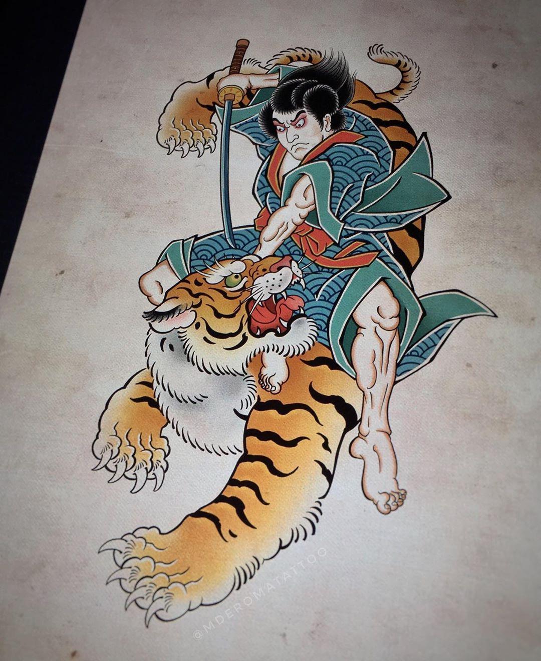 """Roma M De on Instagram: """"🐯🖖 #tattoo #tattoos #tat #ink #japanesetattoo #design #drawing #irezumicollective #asian_inkandart #ipadpro #peonytattoo #ipadprotattooteam…"""""""