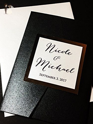 Custom Wedding Invitation Set with RSVP Card - Nicole Sample - Sample Cards