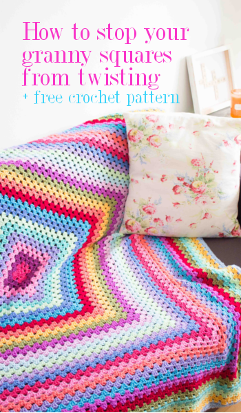 Giant Granny Square Crochet Blanket Free Pattern And How To Stop