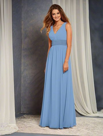 10004320d2c Alfred Angelo 7375 L Bridesmaid Dress in Light blue in Chiffon ...