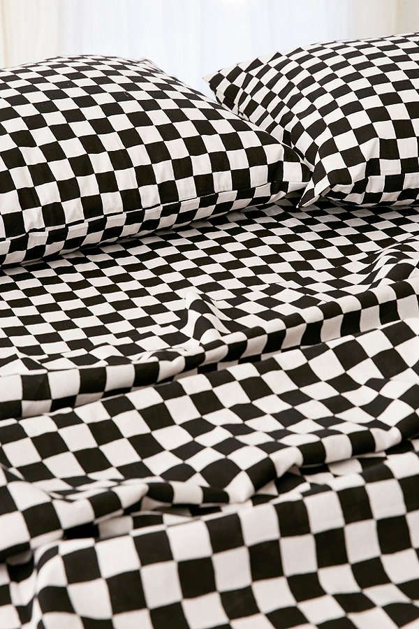 Checkered Sheet Set House 2 Sheet Sets Urban Outfitters