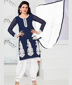 d999a61f69 Buy Navy Blue Georgette Punjabi Suit 75547 online at lowest price from huge…