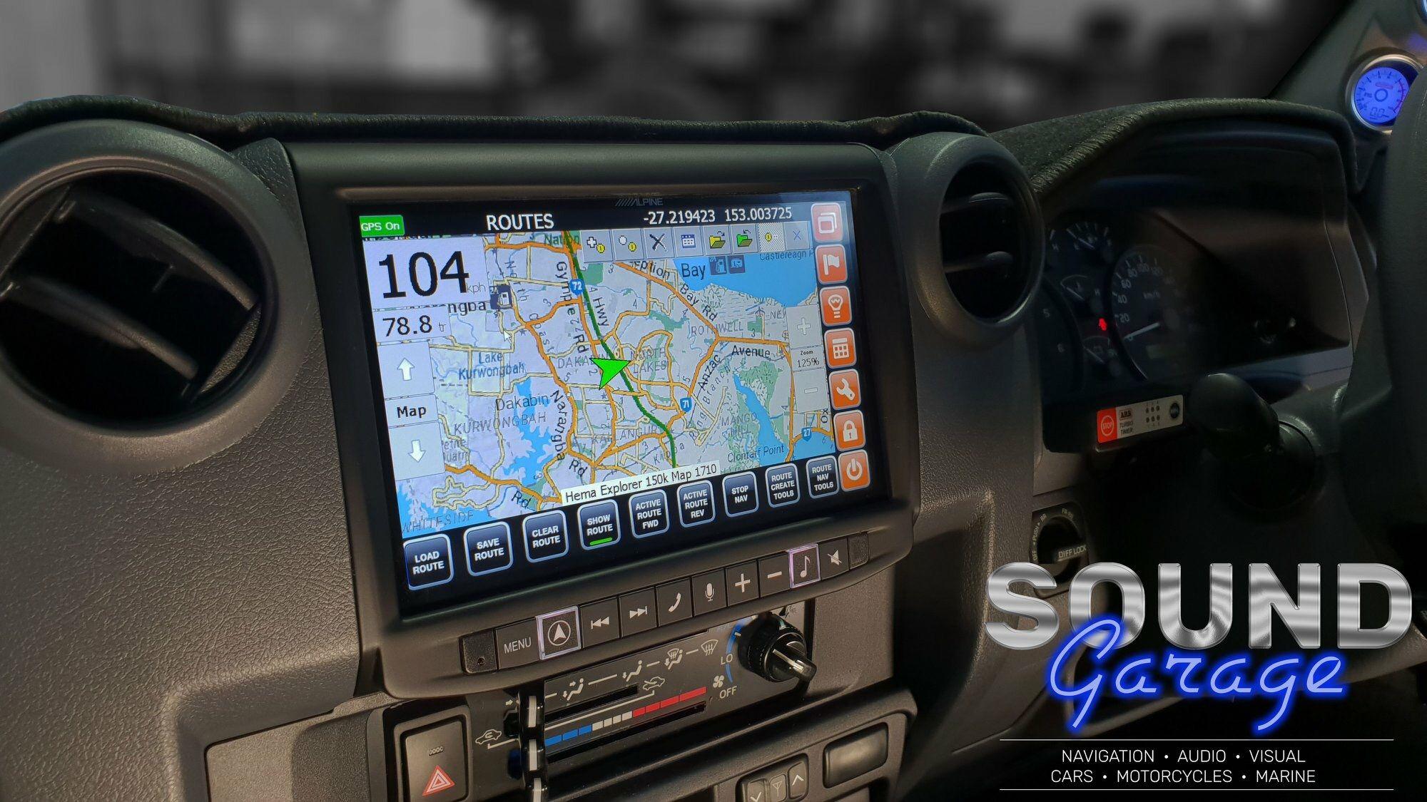"Toyota HJ79 Landcruiser now with 9"" Navigation/HEMA maps"