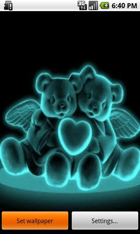 Live Laugh Love Neon Backgrounds Download Neon Bears In Love Live