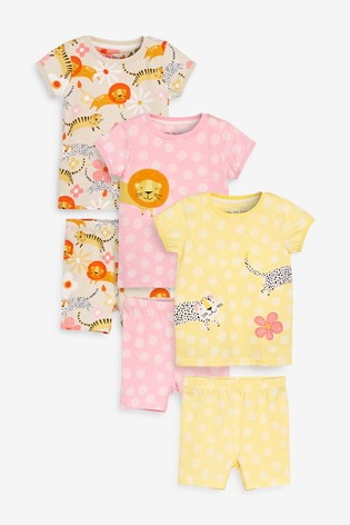 Flower Print with Yellow or Pink Striped Trim Organic cotton knit children/'s PJs