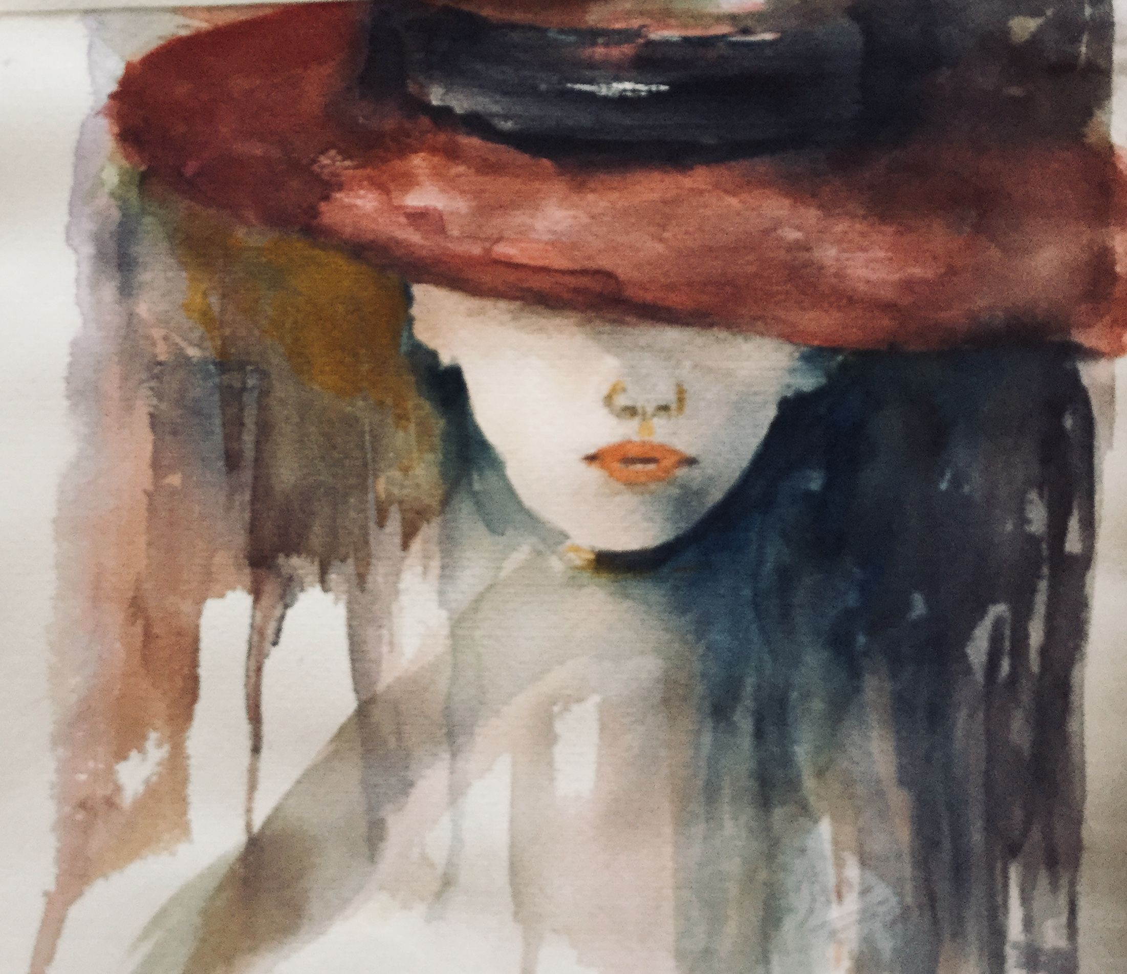 Watercolor Painting By Inal Kadin