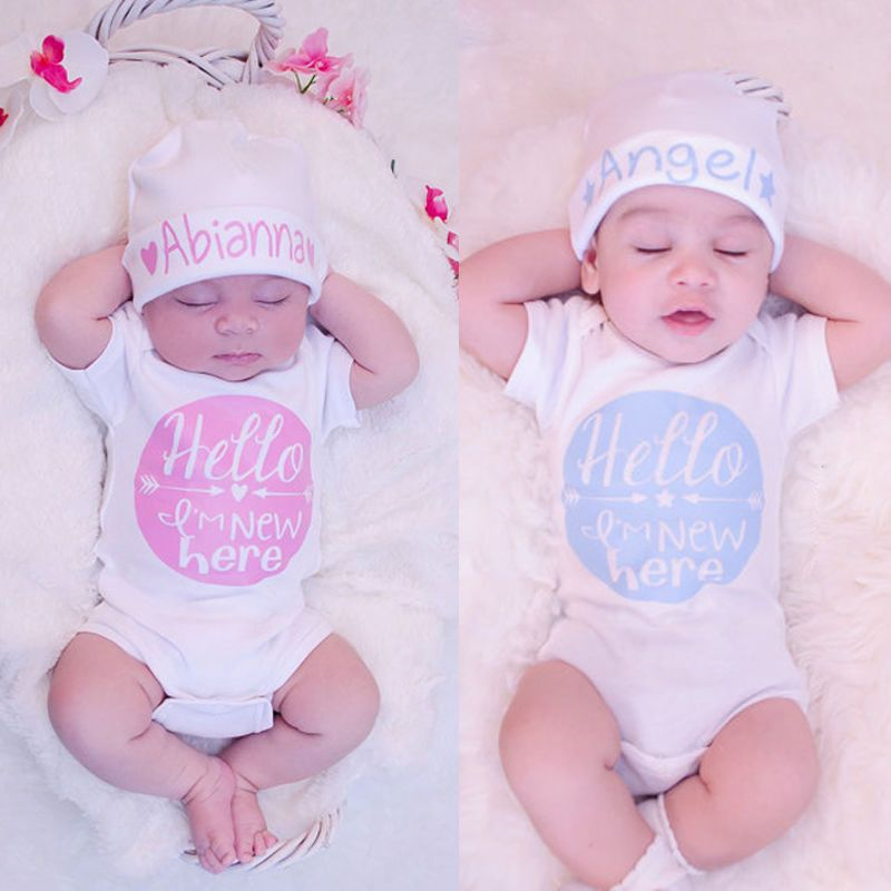 7b6564fbb Newborn Baby Girl Boy Clothes Quote Bodysuit Romper Jumpsuit Outfits ...