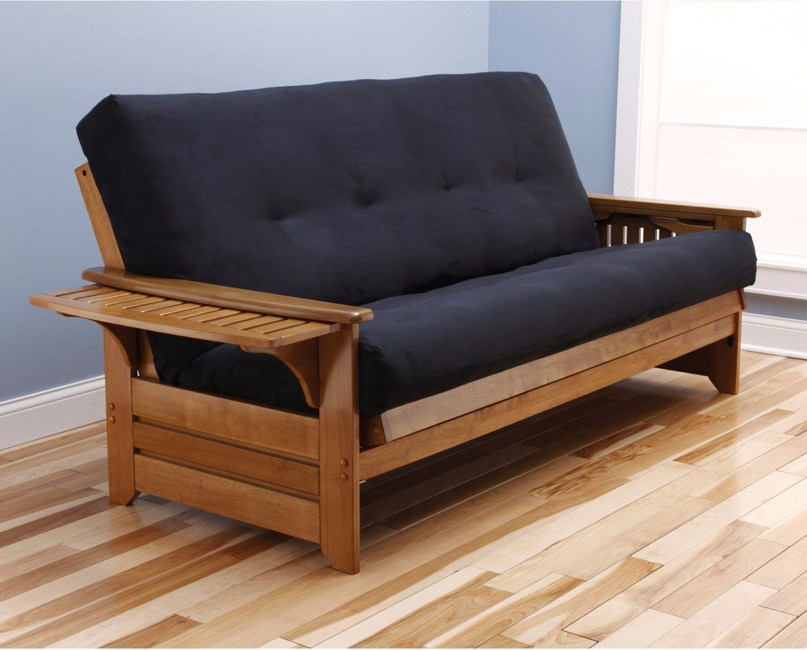 ca amazon futons home kitchen futon westfield full wood dp frame size