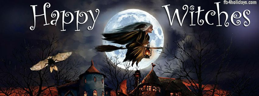 halloween timeline cover banner for fb scary witches cover photo for facebook banner - Halloween Facebook Banners