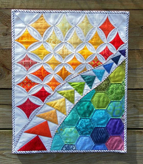 A Stunning Mini Quilt The Rainbow Colors Are So Radiant