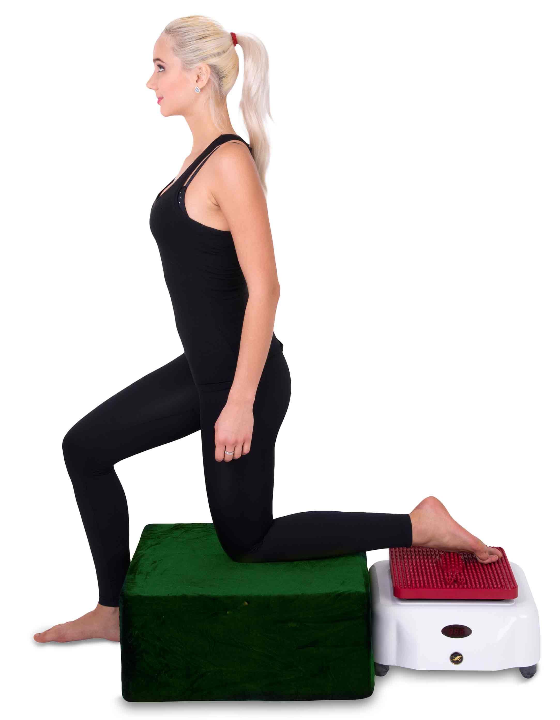Фитнес массажер кружевное белье черное с красным