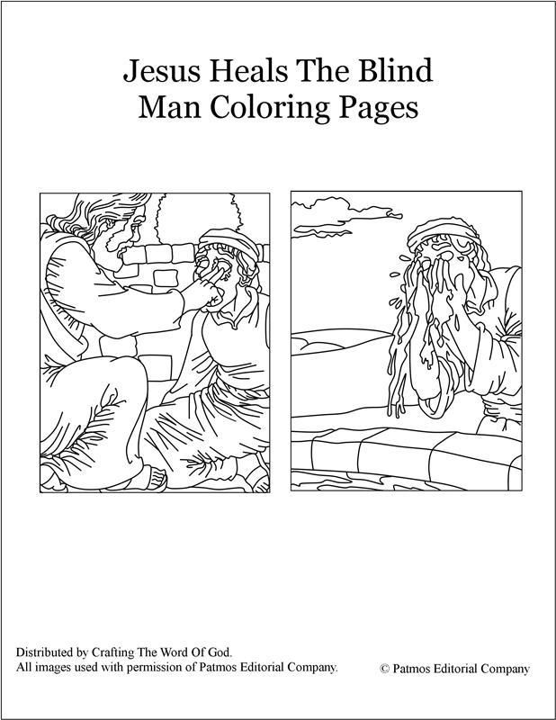 Jesus Heals The Blind Man Coloring Pages Jesus Heals Bible