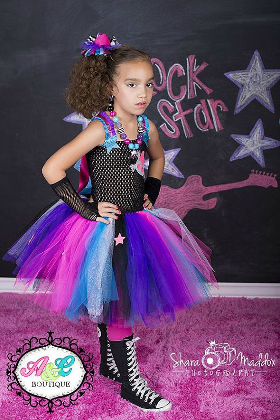 Rockstar tutu dress, Monster High tutu dress, Rockstar Birthday ...