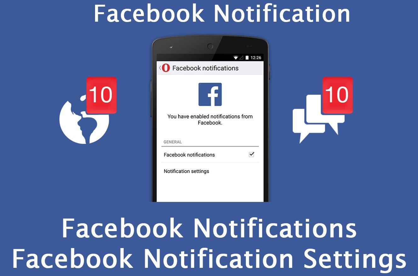Facebook Notifications Facebook Notification Settings Facebook
