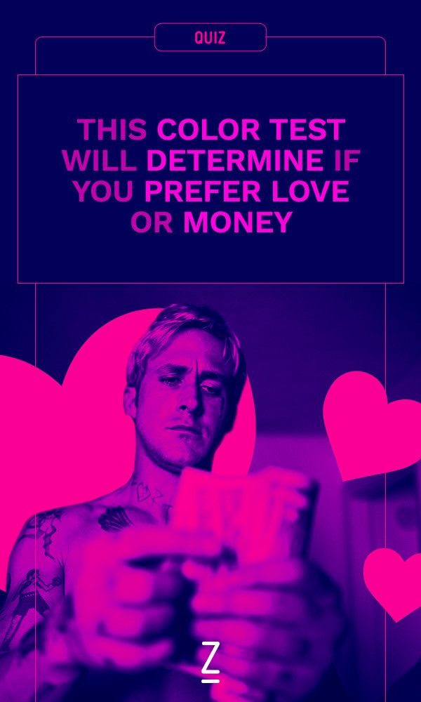 This Color Test Will Determine If You Prefer Love or Money