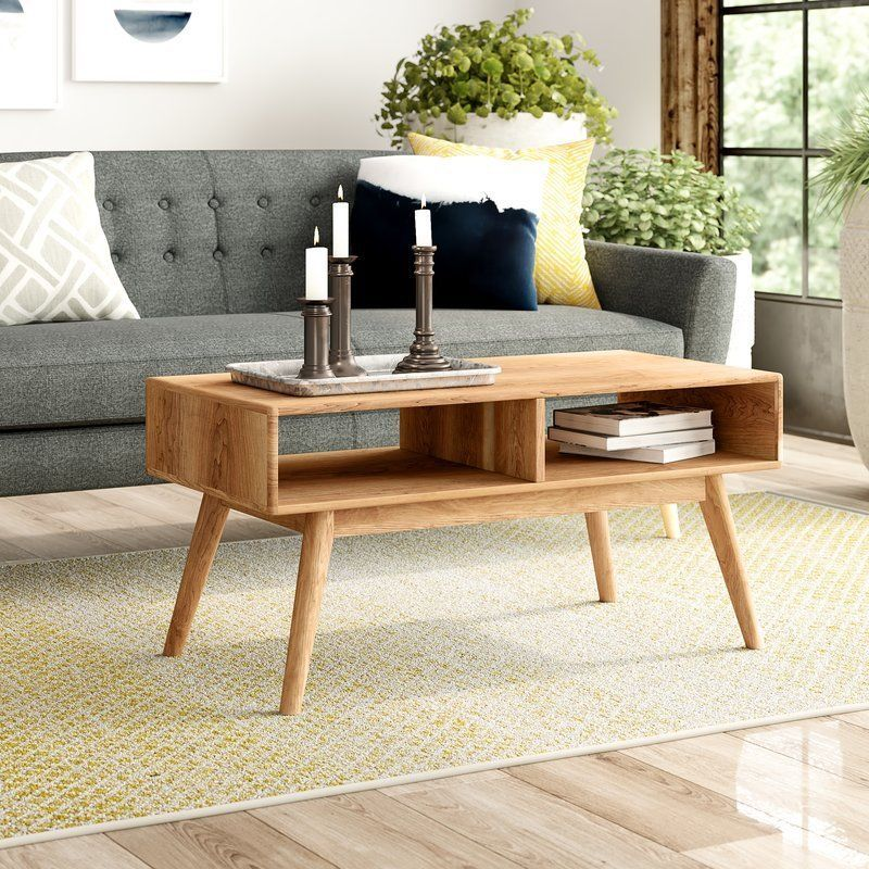 Wooden Coffee Table 2 Open Shelves Storage Brown Oak Wood Living Room Furniture Coffee Table With Storage Wood Furniture Living Room Wooden Coffe Table