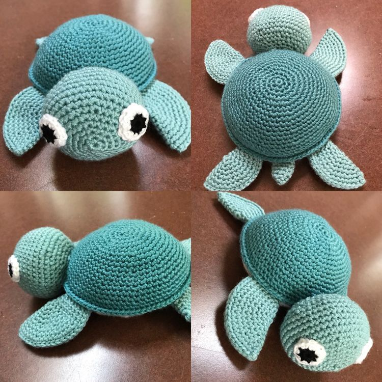 DIY – Instructions for Crocheted Turtle Amigurumi Free Pattern Tutorial – YARN OF CROCHET #crochetturtles