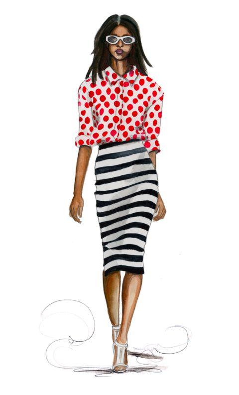 fashion illustration burberry