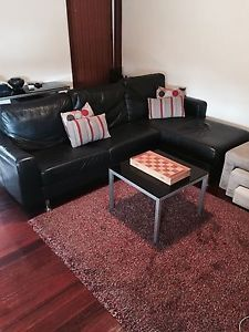 Astounding 3 Seater Chase Black Italian Leather 100 La Nouva Couch Sofa Squirreltailoven Fun Painted Chair Ideas Images Squirreltailovenorg