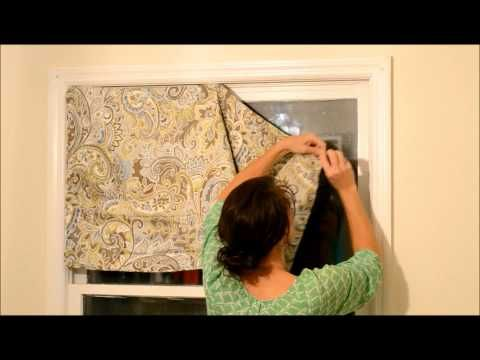How to Create a quick (5-minute) Valance from a king sized Pillow Case