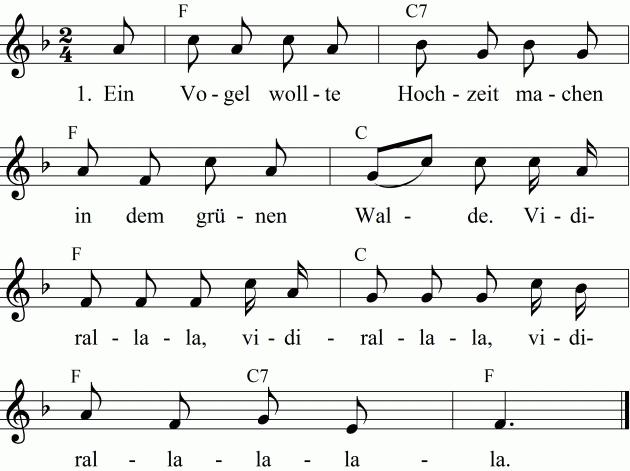 Lied Die Vogelhochzeit Ukulele Lieder Kinderlieder Kinder Lied