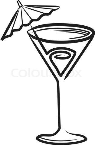 cocktail 20clipart blog line art ideas pinterest svg file rh pinterest com Cocktail Clip Art Cocktail Cartoon