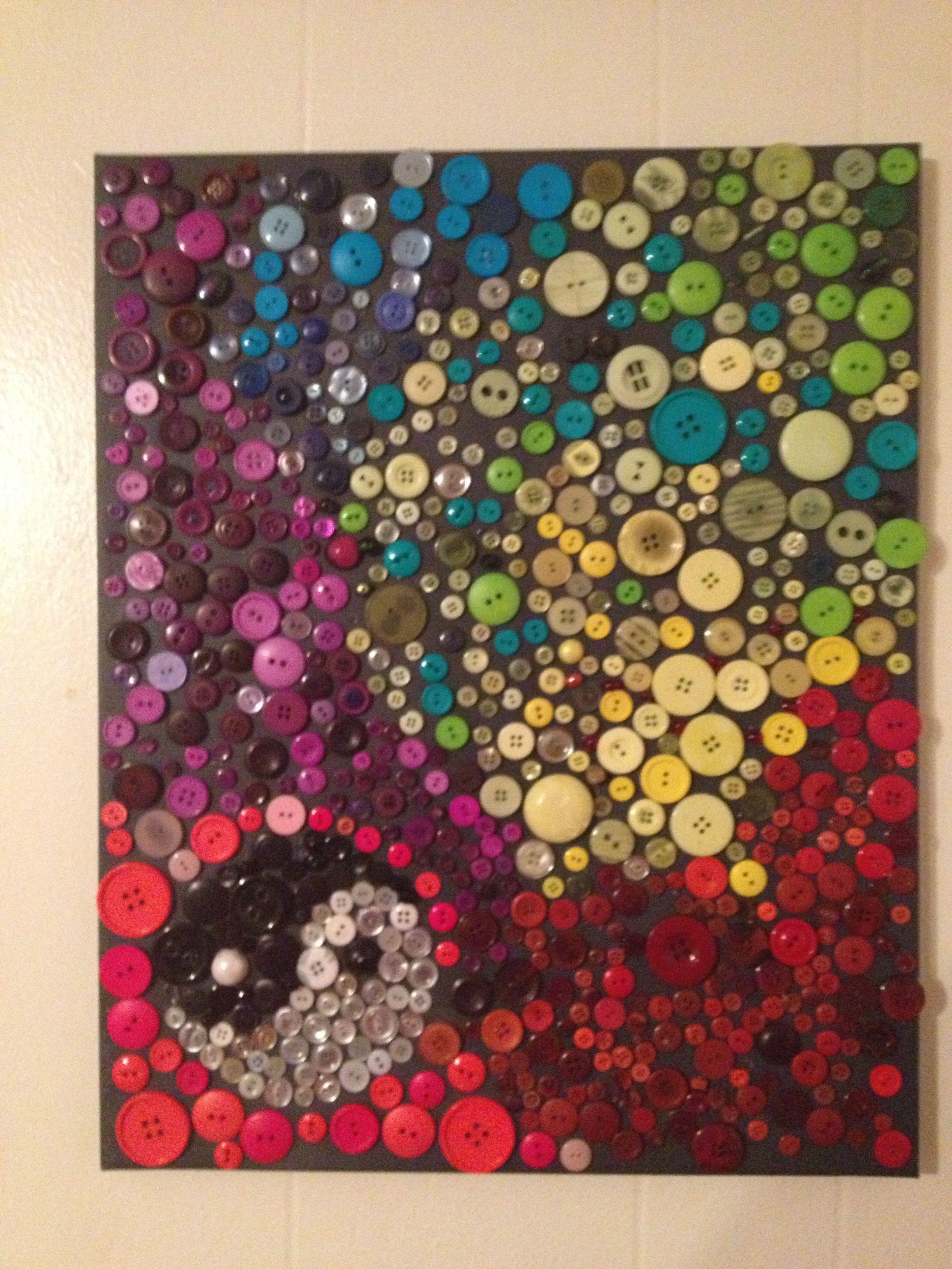 Mosaic using buttons Mosaic using buttons