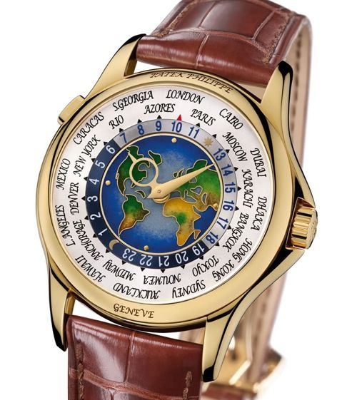3 patek philippe platinum world time