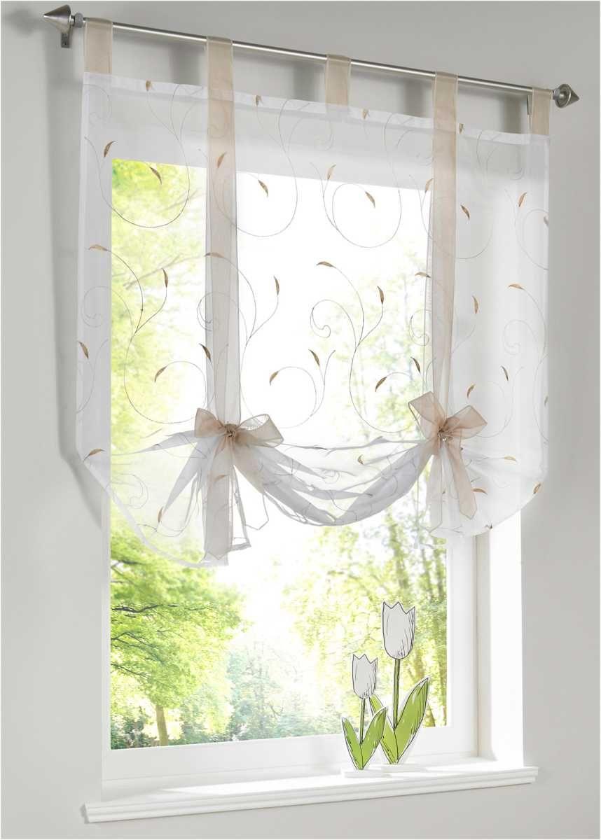Bindegardine Mit Stickerei Coole Vorhange Vorhange Gardinen Und