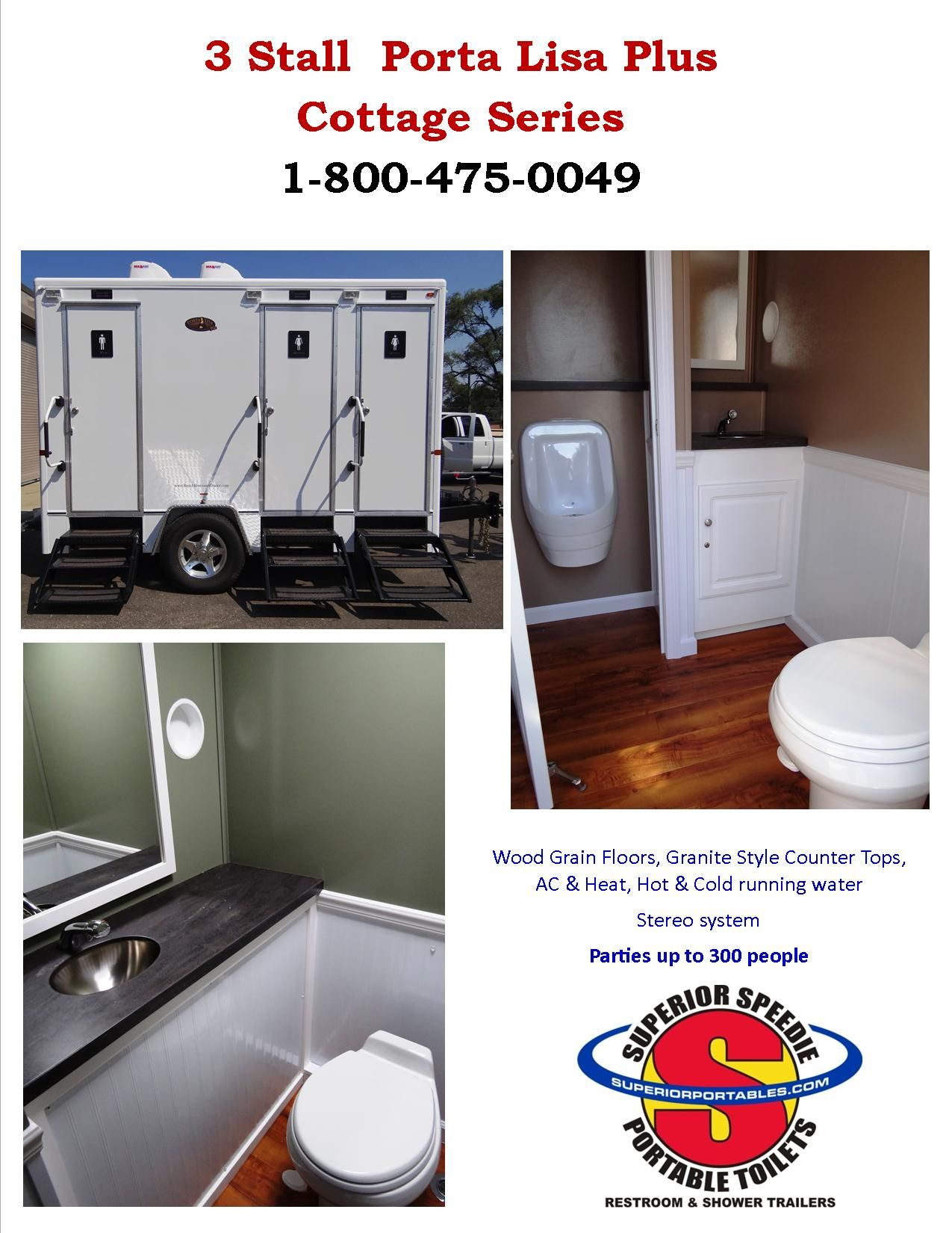 brand new luxury restroom trailer perfect for parties up to 350